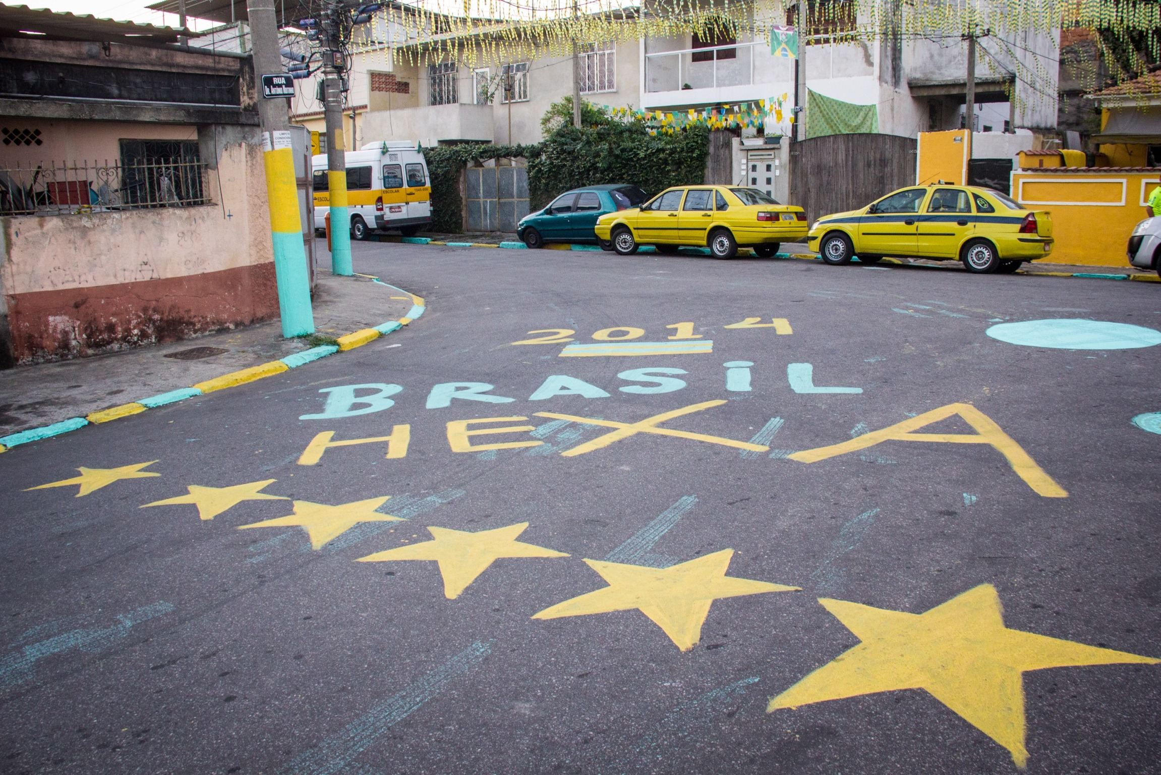 Associação dos moradores convoca moradores para assistir o jogo do Brasil