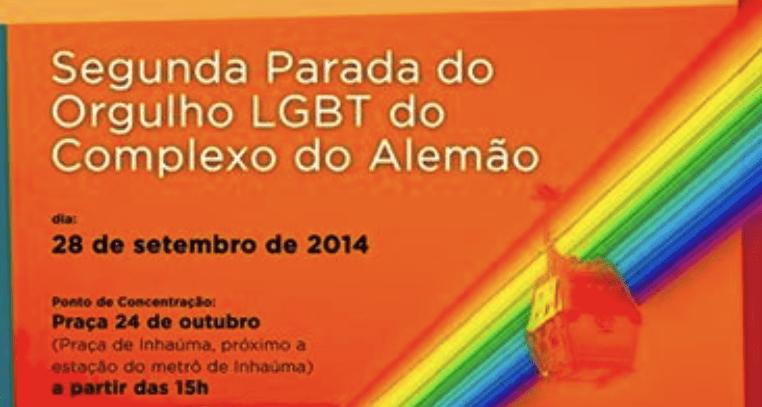 Complexo do alemão terá segunda parada LGBT em setembro