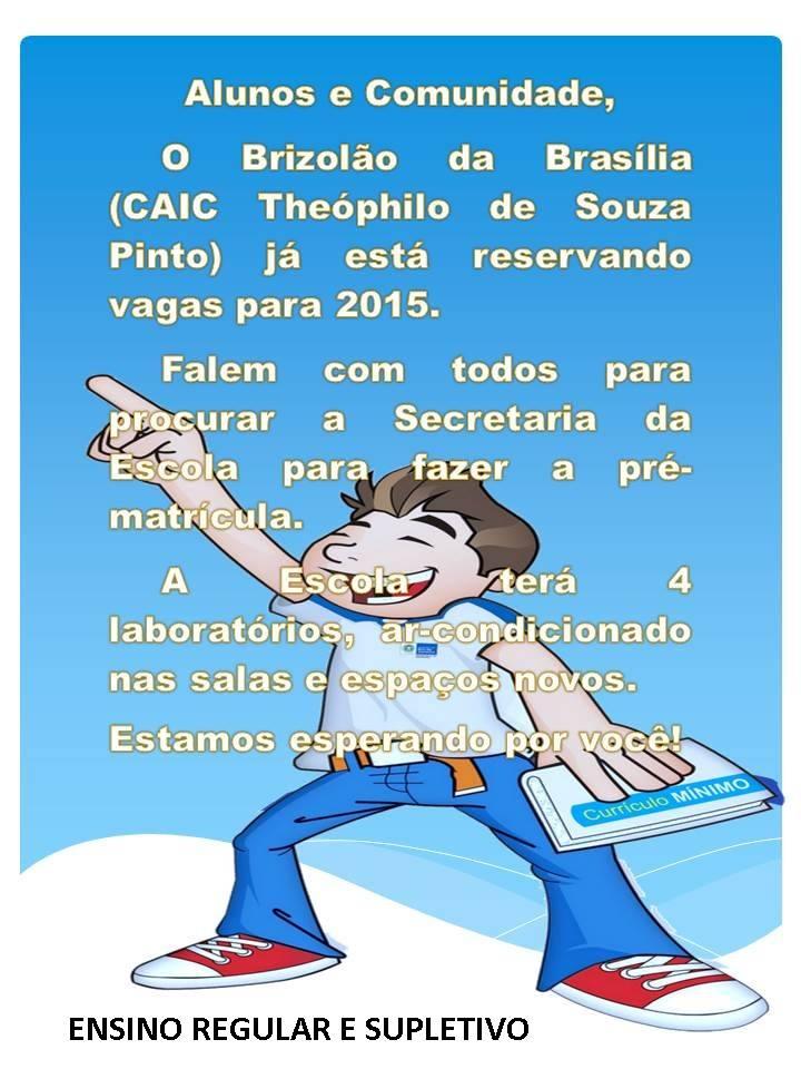 Colégio municipal agenda vagas para 2015