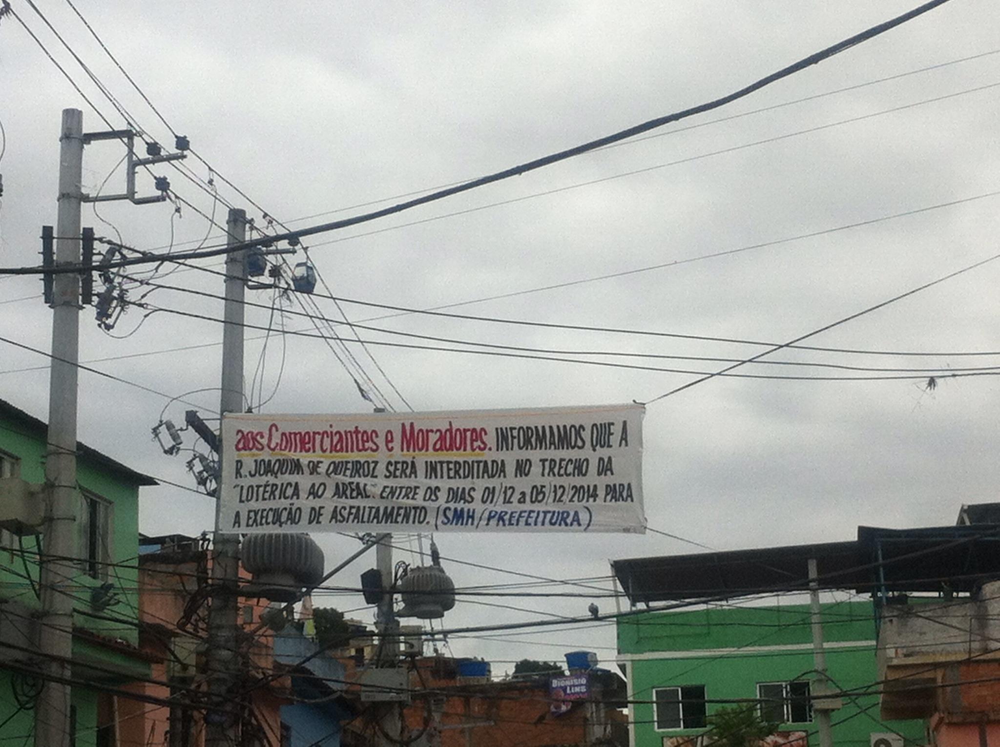 Rua Joaquim de Queiroz (GROTA) ficará fechada por uma semana