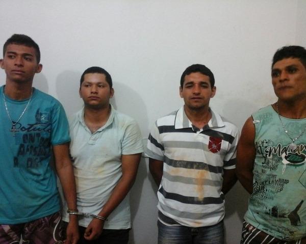 Bandidos invadem residência, trocam tiros com a polícia e são presos