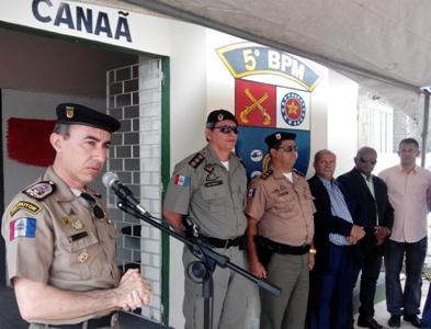 PM inaugura posto policial no bairro do Canaã