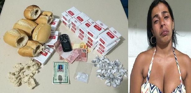 PC prende mulher acusada de tentar entrar com pães recheados de maconha em delegacia