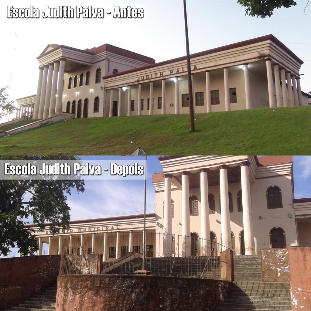 Educação sem estrutura: o histórico prédio da Escola Judith Paiva, em Rio Largo, oferece riscos a alunos, professores e funcionários