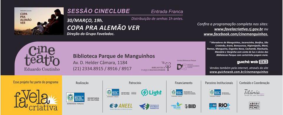 Filme 'Copa Pra Alemão Ver' será lançando no Complexo de Manguinhos