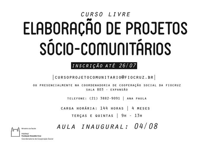 Curso Livre: Elaboração de Projetos Sócio-comunitários