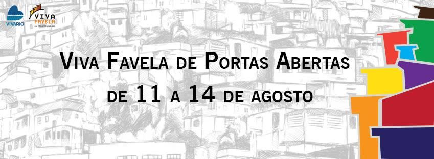 Programação do Viva Favela de Portas Abertas