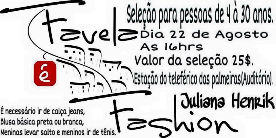 Seu sonho é ser modelo? O Favela é Fashion pode realizar!
