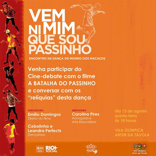 Rio+Social leva workshop e cine-debate sobre o Passinho ao Morro dos Macacos