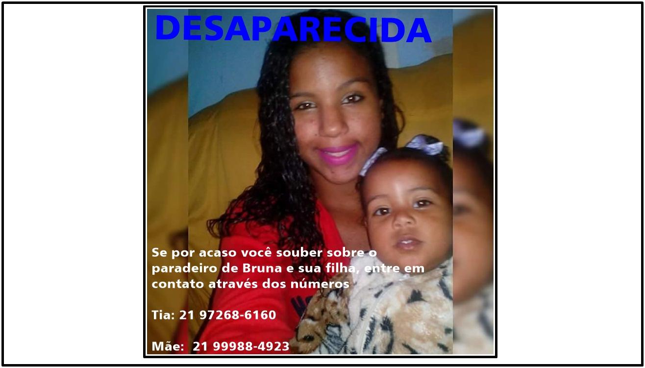 Familiares pedem ajuda para reencontrar mãe e filha desaparecidas