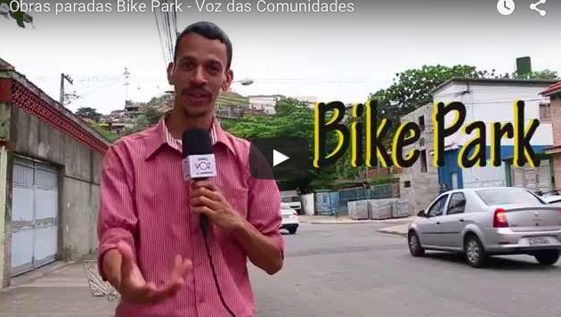 Obras paradas Bike Park no alto do Morro do Alemão