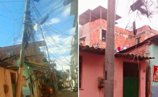 Light resolve problema de poste caindo no Complexo da Maré