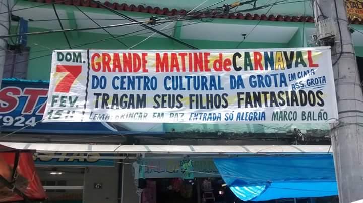 #CarnavalNoAlemão: Festa gratuita para criançada no Centro cultural da Grota neste domingo