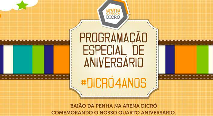 Fim de semana de mistura musical na Arena Carioca Dicró