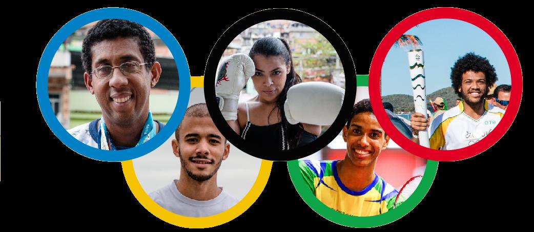 Nas favelas também tem atletas
