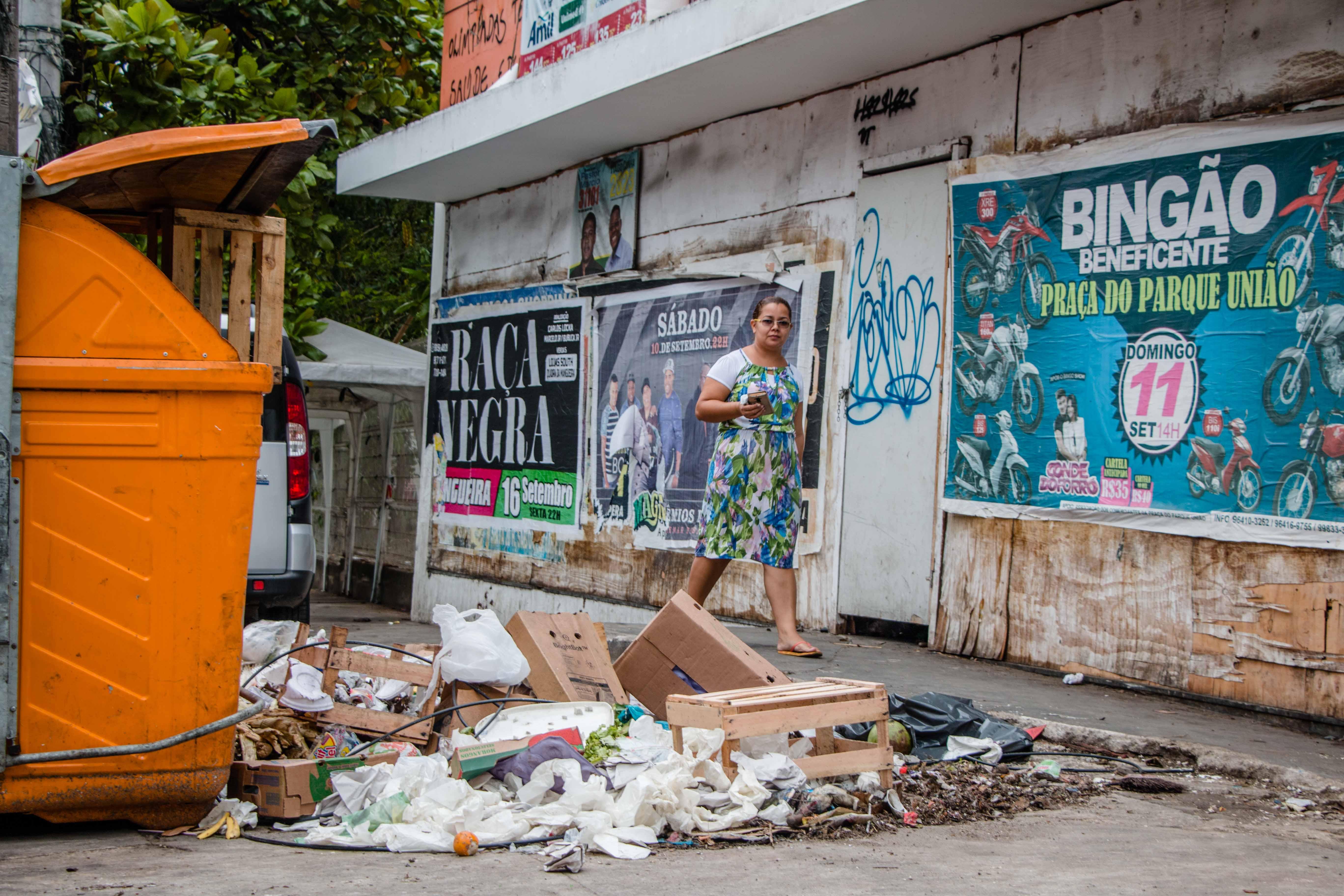 A moradora Edvania Moura, de 28 anos. Foto: Renato Moura/Jornal Voz da Comunidade