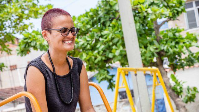 Ativista do coletivo Bota Cara CDD, vivi - Foto: Foto: Renato Moura/Voz Das Comunidades