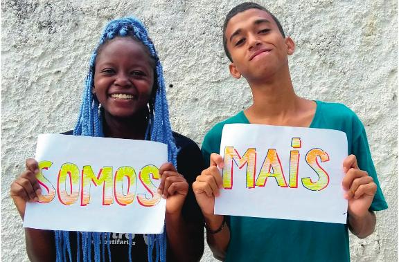 Sabrina Martina e Luiz Rafael: Produtores do filme 'Somos Mais' - Foto: Divulgação