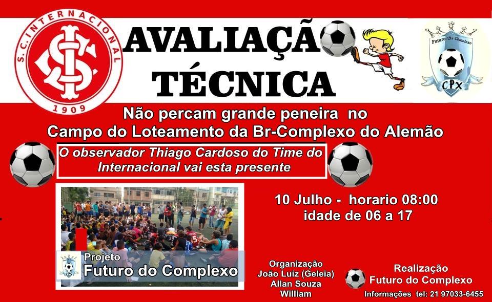 Projeto de futebol convoca jogadores do Complexo do Alemão para avaliação técnica