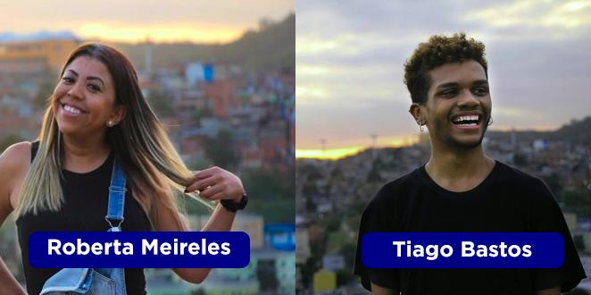 Dupla Roberta Meirelles e Tiago Bastos, da produção.
