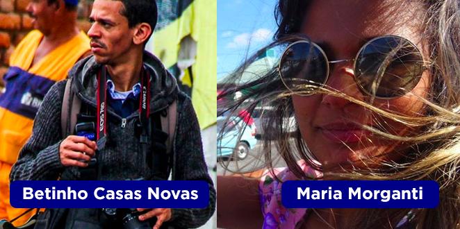 Dupla Betinho Casas Novas e Maria Morganti, do jornalismo.