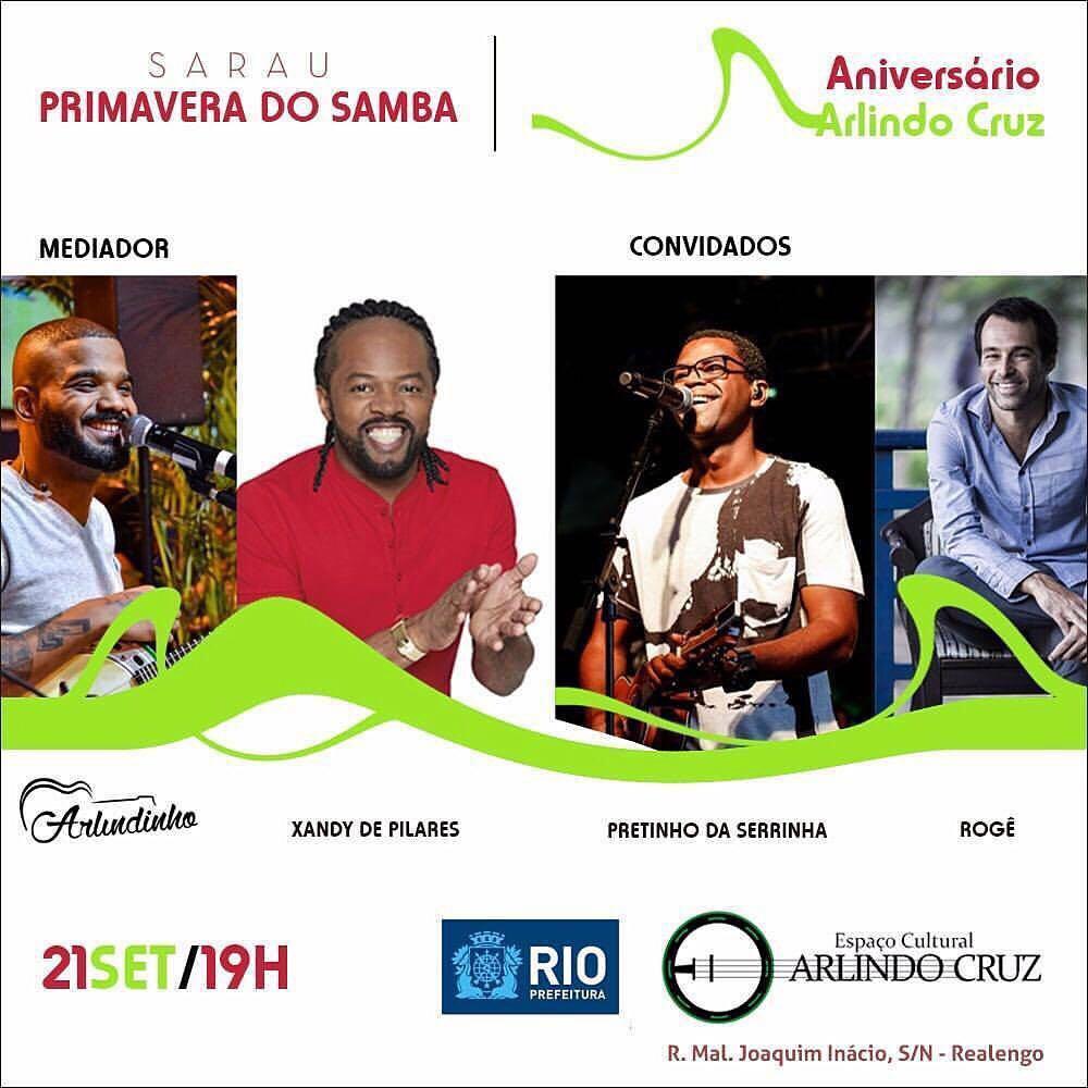 Espaço Cultural Arlindo Cruz realiza evento para comemorar aniversário do cantor