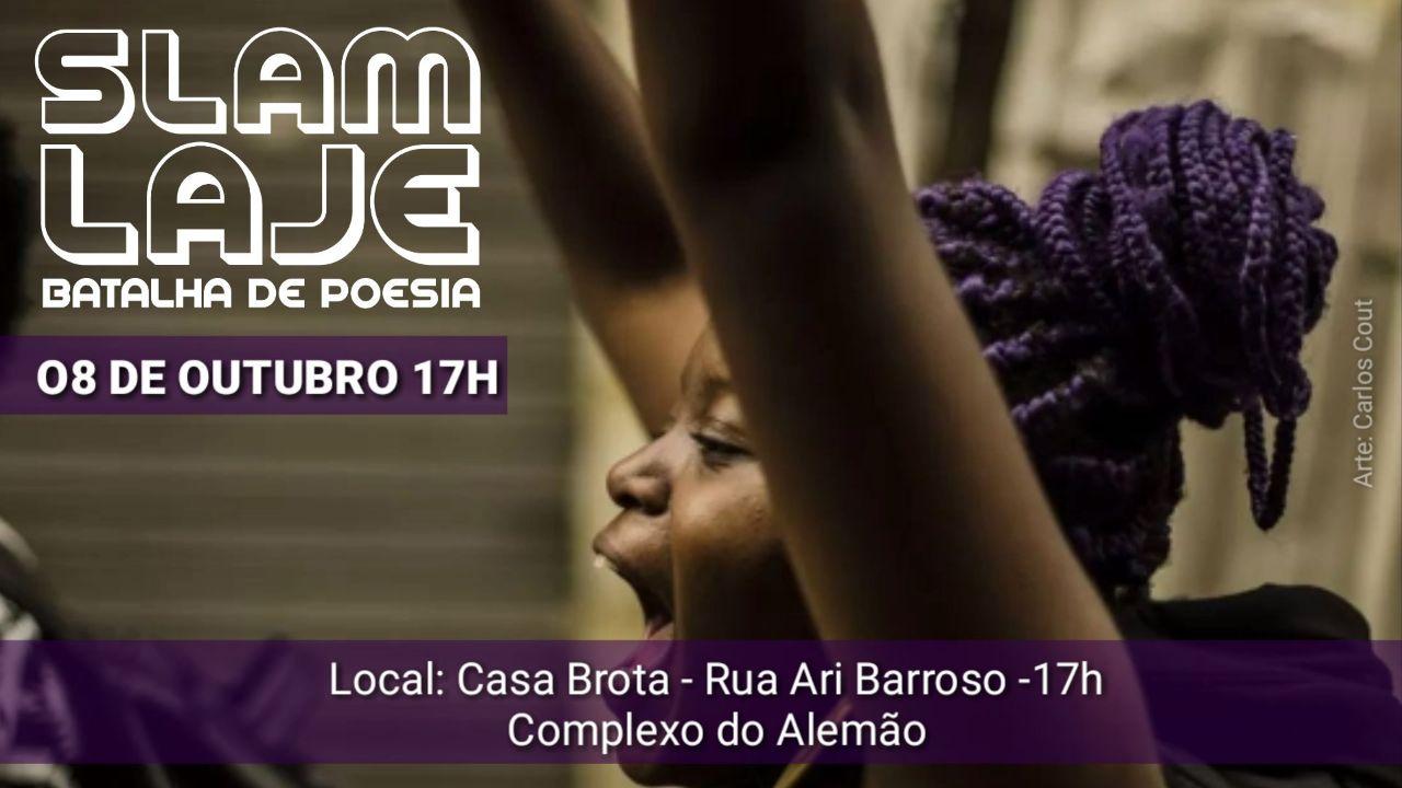 Casa Brota recebe edição final do Slam Laje em outubro