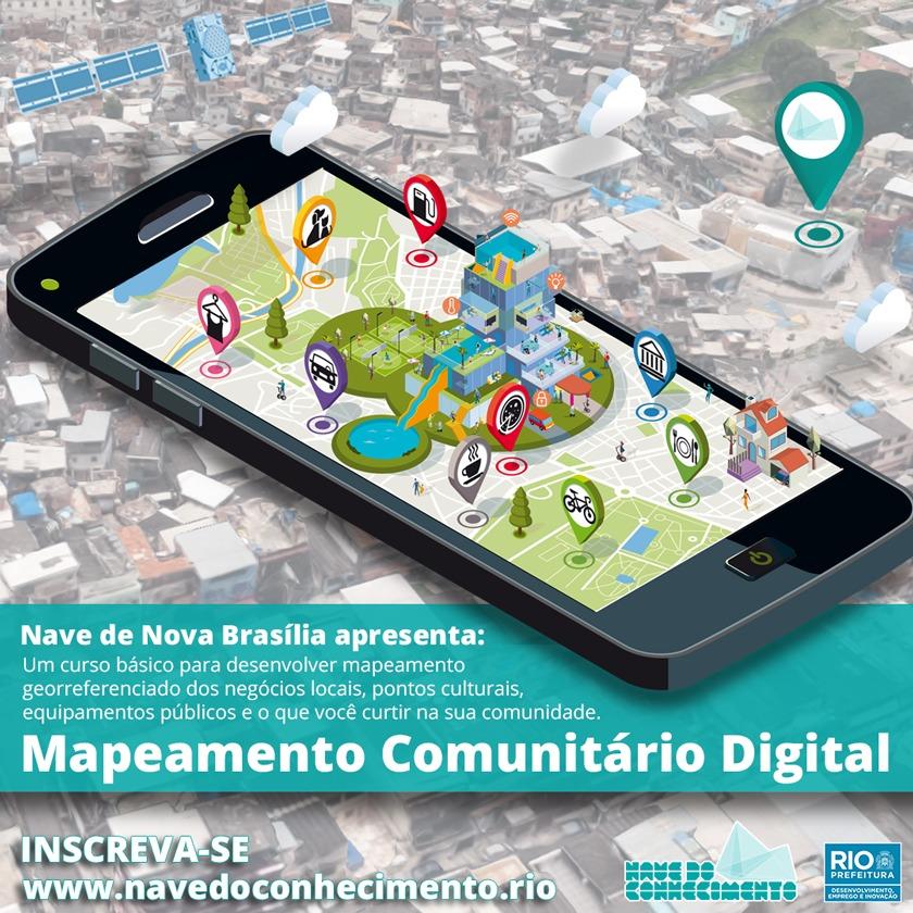 #Oportunidade: Nave do Conhecimento está com inscrições abertas para curso de Mapeamento Digital