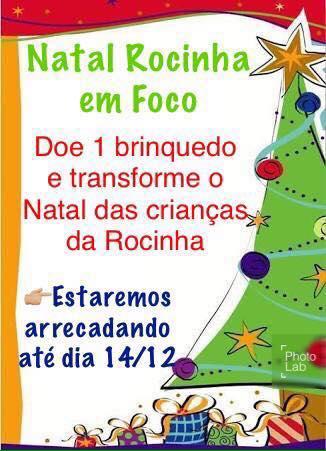 #Natal: Campanha arrecada brinquedos para crianças da Rocinha