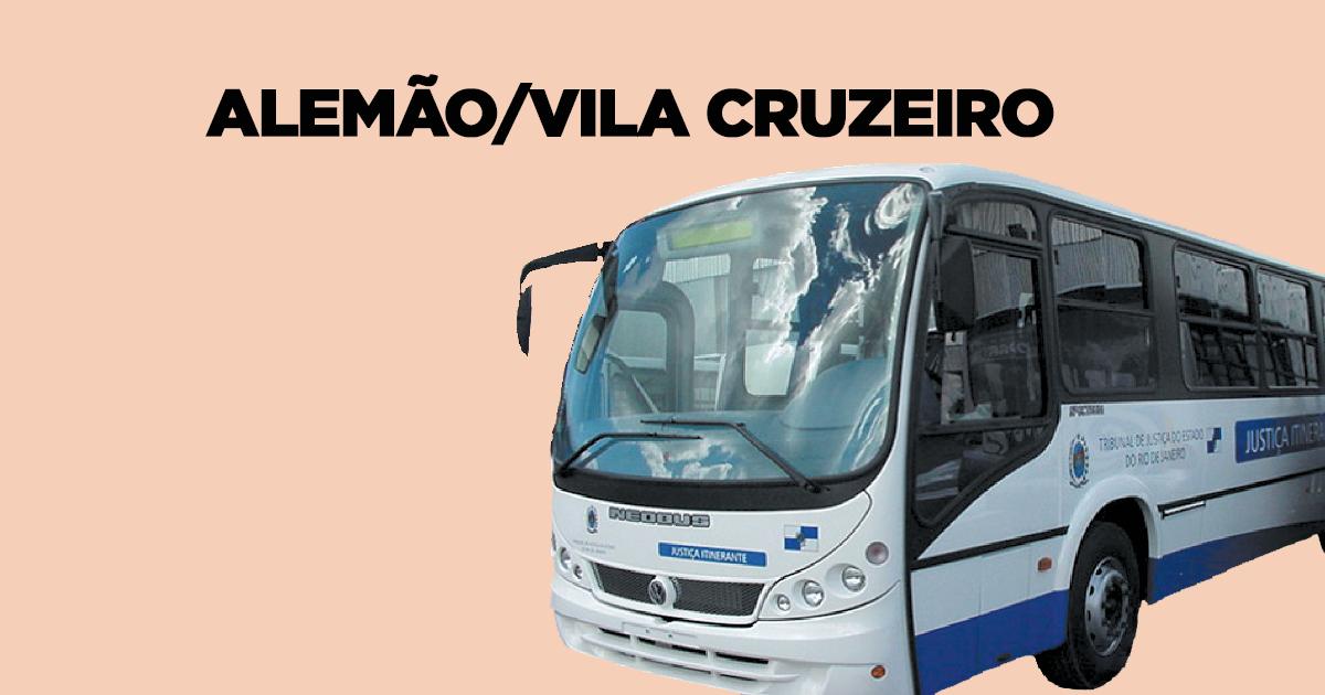 Atendimentos no ônibus da Justiça para moradores do Alemão serão feitos na Penha