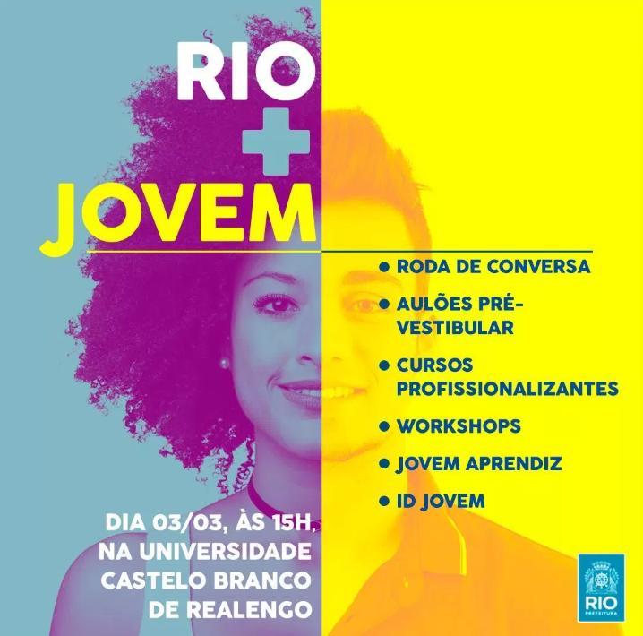 Bate-Papo Rio + Jovem: evento terá roda de conversa, workshops e inscrições em programas sociais