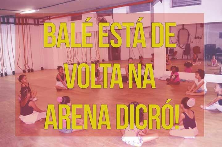 Aulas de balé para crianças a preço popular na Arena Dicró, na Penha