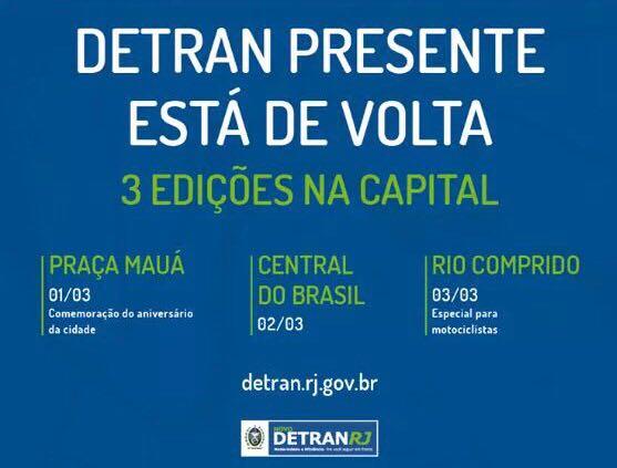 DETRAN Presente realizará três mutirões de regularização de documentos no Rio