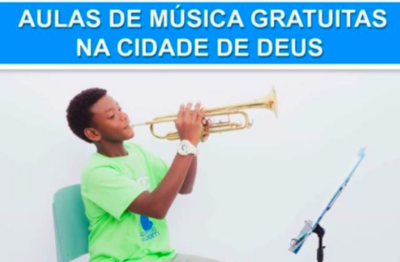 Estão abertas as inscrições para aulas de música gratuitas na Cidade de Deus