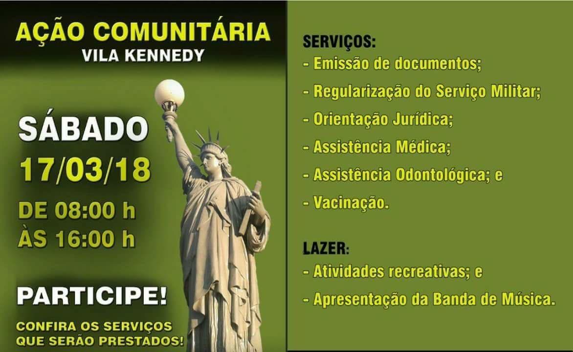 Governo do Estado e Prefeitura vão realizar ação comunitária neste sábado (17/03) na Vila Kennedy