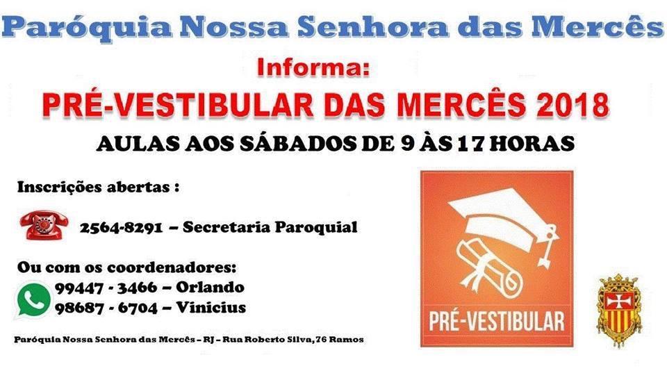 Inscrições abertas para pré-vestibular popular em Ramos