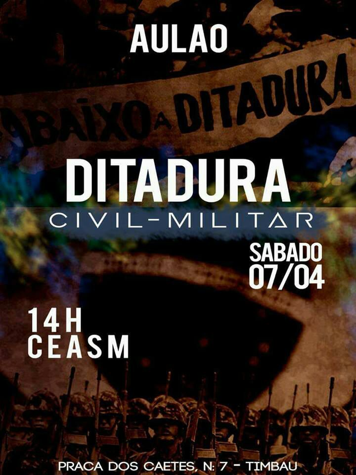 Aulão aberto sobre ditadura militar será realizado no Complexo da Maré