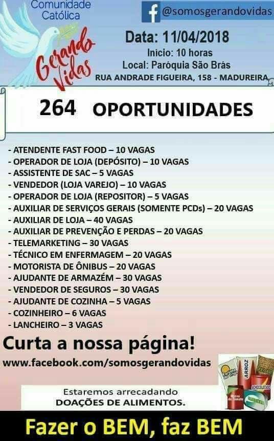 Feira de emprego em Madureira oferece mais de 200 vagas; Veja lista