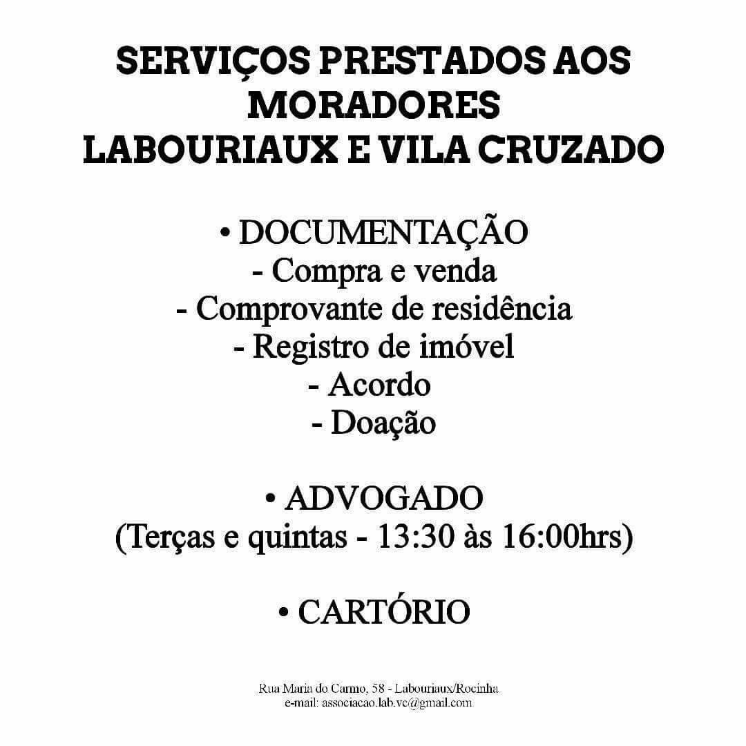 Saiba serviços oferecidos pela Associação de Moradores do Laboriaux, na Rocinha