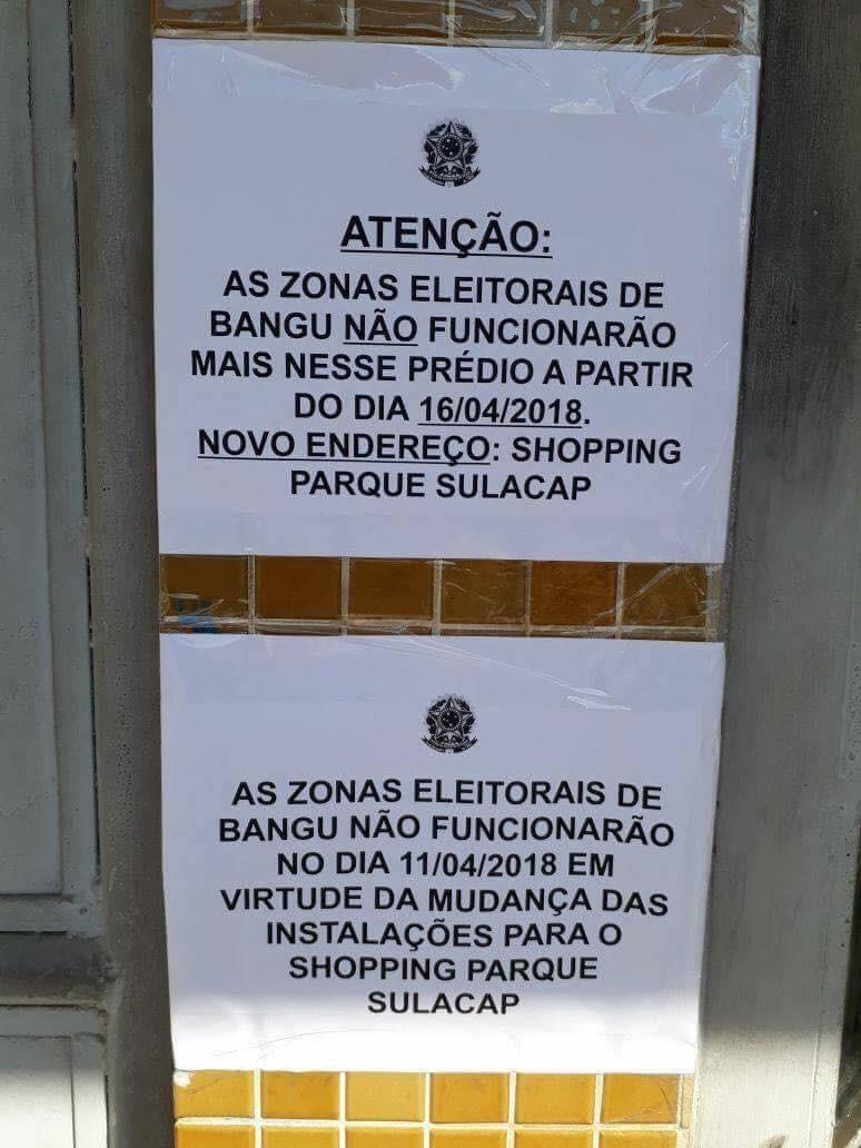 Zona Eleitoral de Bangu é transferida para Park Shopping Sulacap