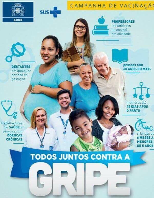 Clínicas da Família e Postos de Saúde iniciam campanha de vacinação contra gripe em Abril