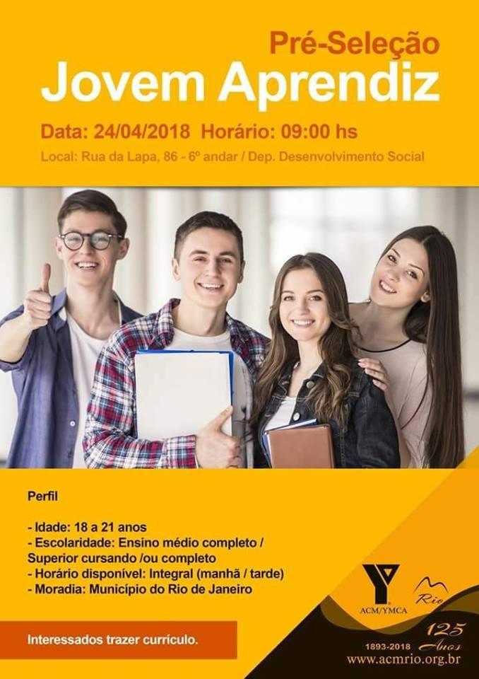 Associação Cristã de Moços realiza seleção para vagas de Jovem Aprendiz