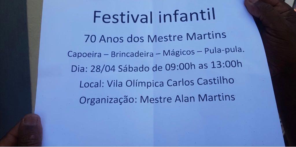 Festival infantil acontece na Vila Olímpica Carlos Castilho