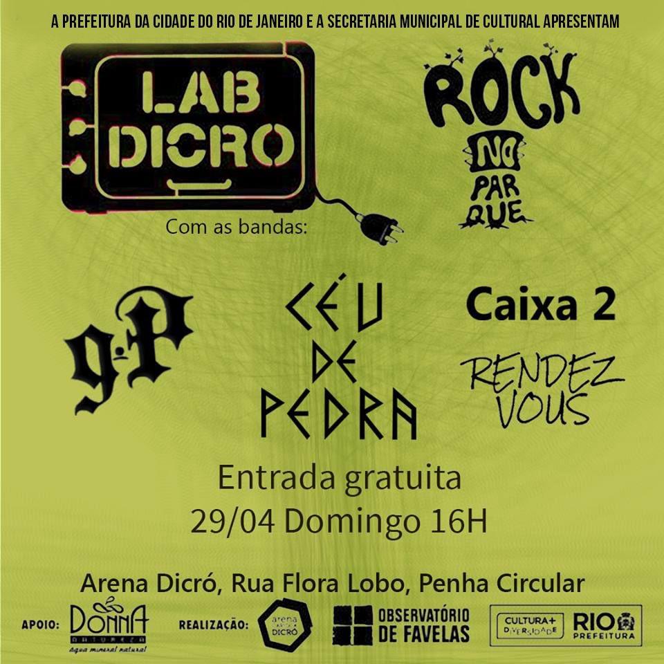 Rock no Parque: LABDICRÓ encerra projeto de residência de bandas em evento gratuito