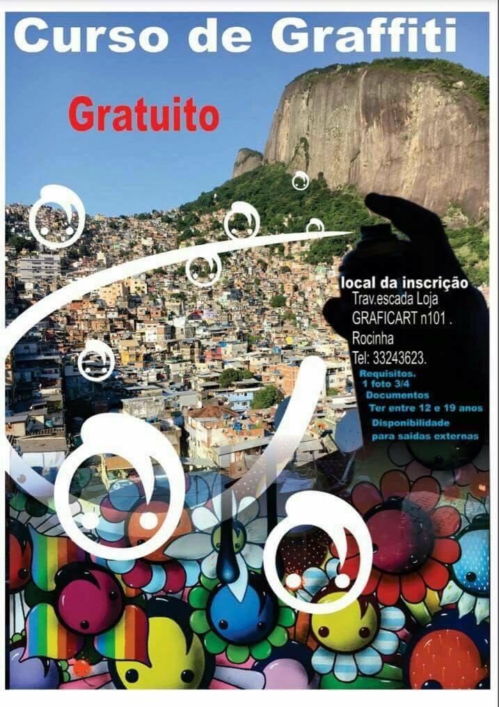 Arte e Cultura: curso de graffiti gratuito na Rocinha