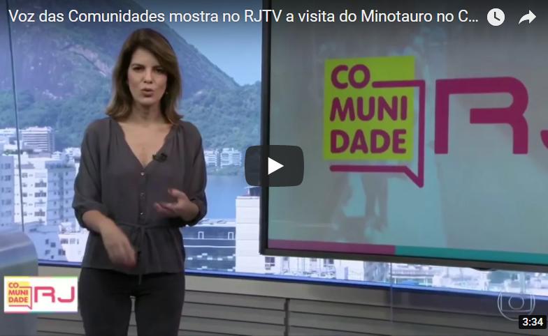 Voz das Comunidades mostra no RJTV a visita do Minotauro no Complexo do Alemão