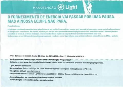Moradores do Pavão-Pavãozinho podem ficar sem energia na próxima segunda (14)