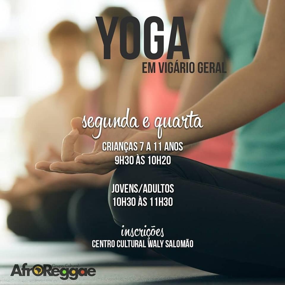 Grupo Cultural AfroReggae abre inscrições para Oficinas de Yoga, em Vigário Geral