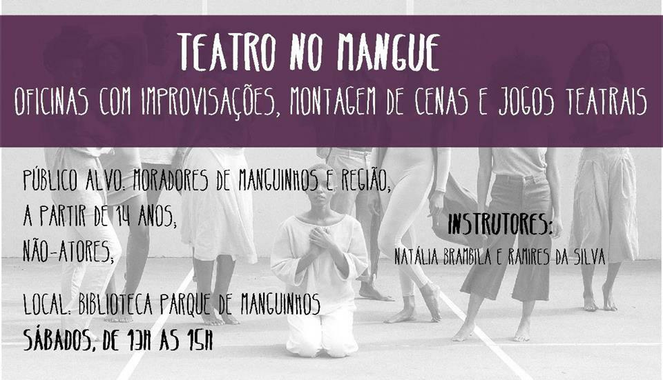 Biblioteca Parque de Manguinhos oferece oficina de teatro todos os sábados