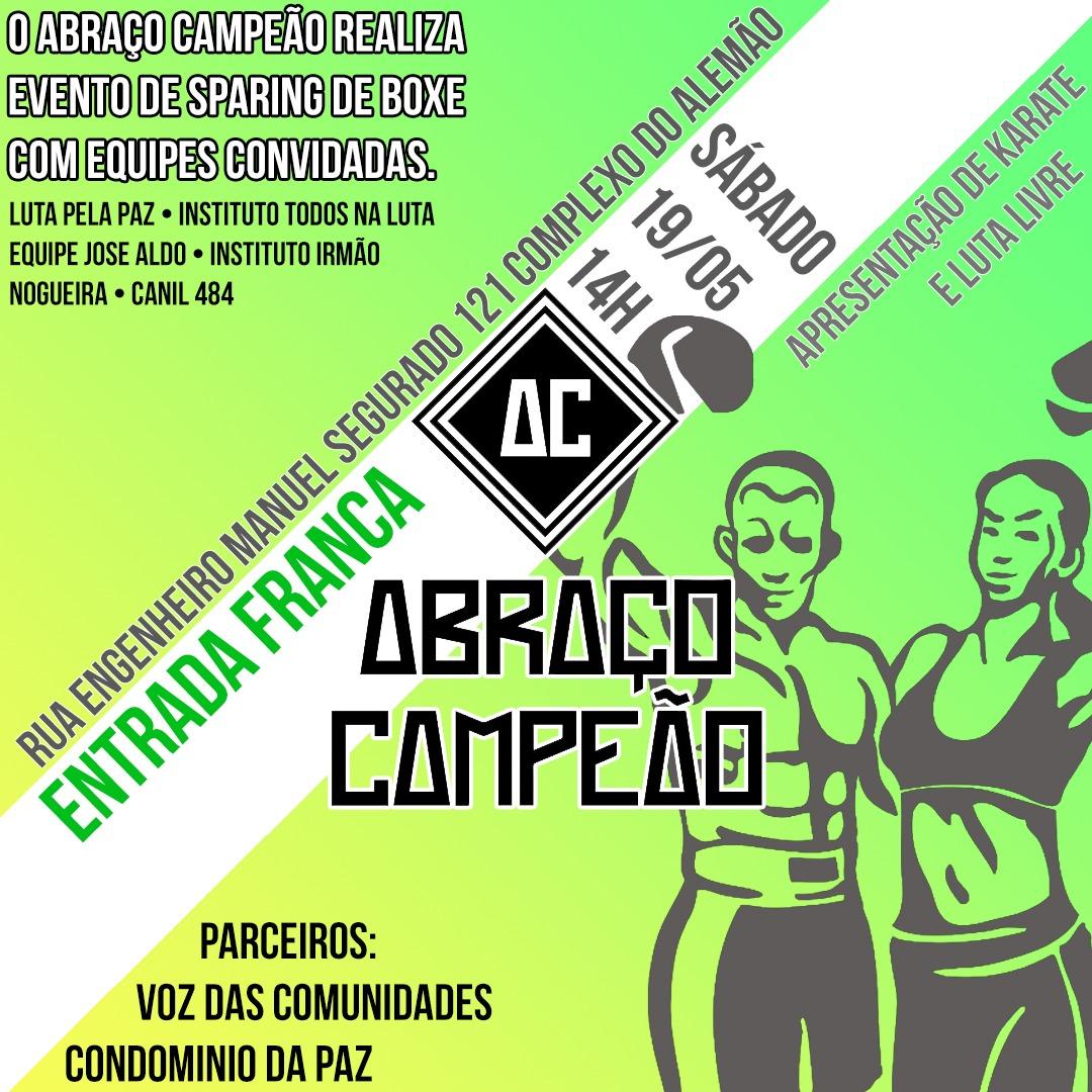 Projeto Abraço Campeão realiza evento de boxe no Complexo do Alemão